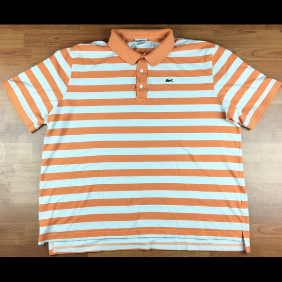 312ad5521 Lacoste Other - Lacoste Patch Embroidered Striped Polo Size 9